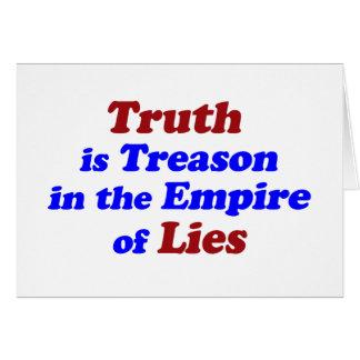 La verdad es traición tarjetón