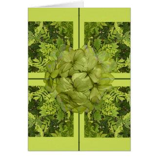La verde lima deja la tarjeta de felicitación de P