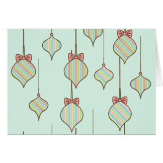La verde menta adorna la tarjeta de Navidad