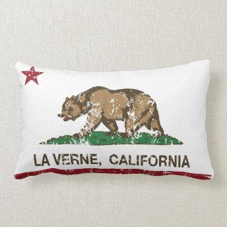 La Verne de la bandera del estado de California Cojines