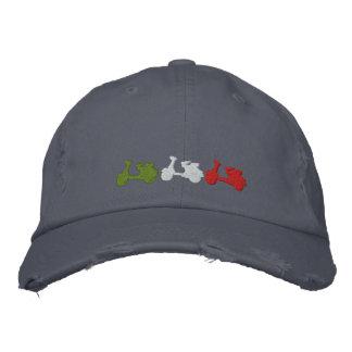 La vespa italiana retra bordó el casquillo apenado gorras bordadas