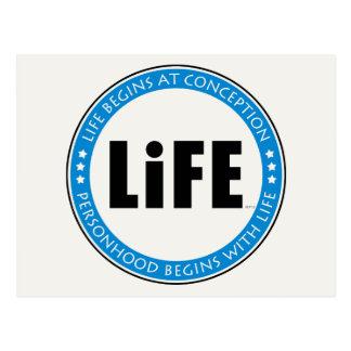 La vida comienza en el concepto postal
