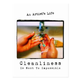 La vida de un artista: Fotografía de la limpieza Postal