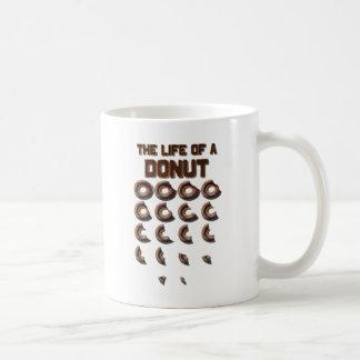 La vida de una taza de café del buñuelo