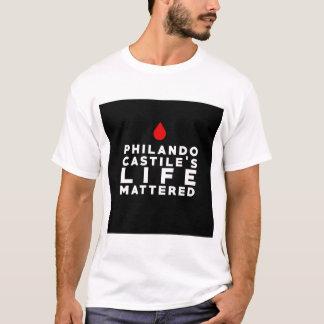 La vida del Castile de Philando importó Camiseta