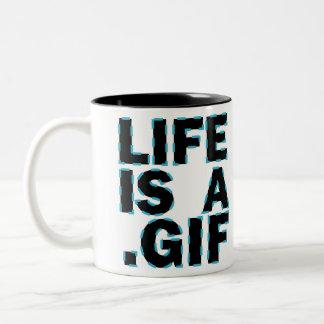 La vida es A GIF Tazas