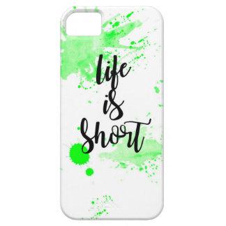 la vida es caja corta del teléfono funda para iPhone SE/5/5s