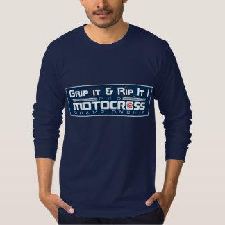 La vida es camiseta corta del motocrós