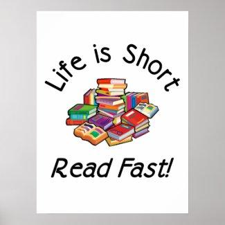 La vida es carteles cortos, 4 tamaños, 5 tipos de posters