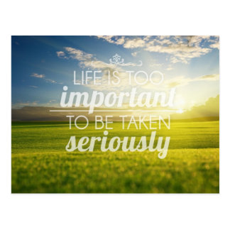 La vida es cita el   de motivación demasiado postal