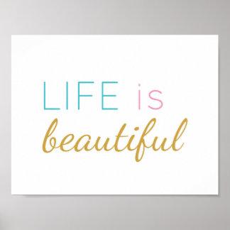 La vida es - cita inspiradora - impresión hermosa