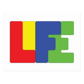La vida es color postal