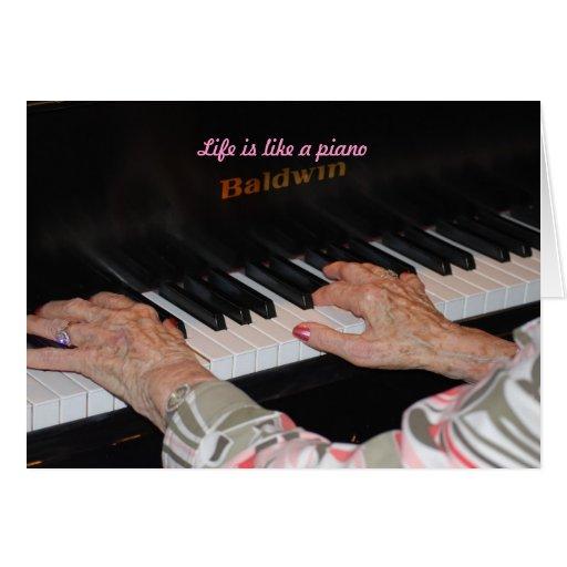 La vida es como un piano felicitacion