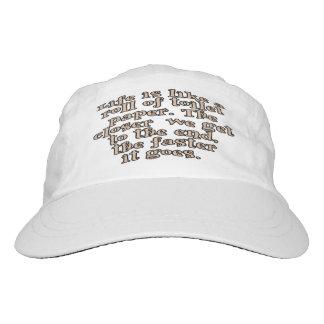 La vida es como un rollo del papel higiénico… gorra de alto rendimiento