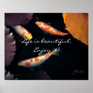 La vida es hermosa goza de él póster