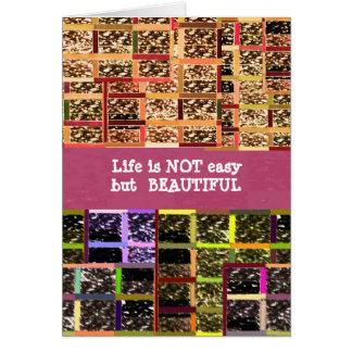 La vida es hermosa:  Texto Editable. Plantilla de  Tarjeta De Felicitación