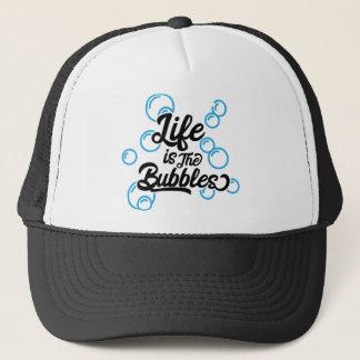 la vida es la cita de la sirena de las burbujas gorra de camionero