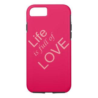 La vida es llena de amor funda iPhone 7