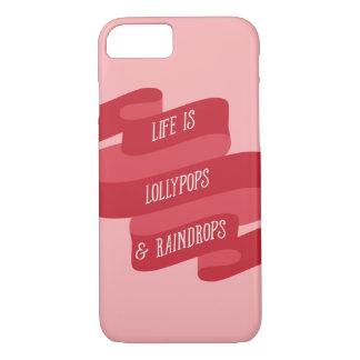 La vida es Lollypops y gotas de agua Funda iPhone 7