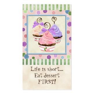 La vida es magdalenas cortas - tarjetas de visita