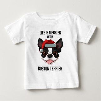 La vida es más feliz con una Boston Terrier Camiseta De Bebé