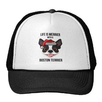 La vida es más feliz con una Boston Terrier Gorras De Camionero