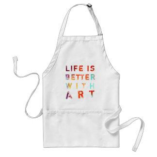 La vida es mejor con arte delantal