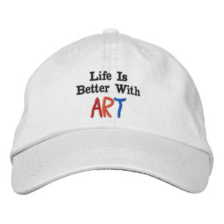 La vida es mejor con arte gorra de beisbol