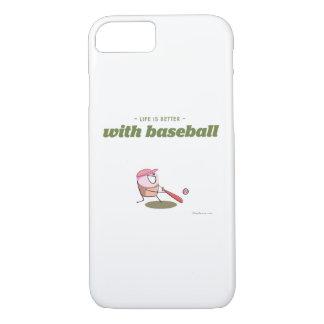 La vida es mejor con béisbol funda iPhone 7