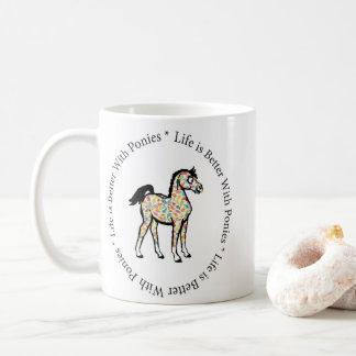 La vida es mejor con la taza de los potros