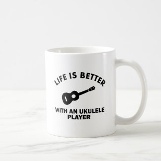 La vida es mejor con los jugadores del ukulele taza