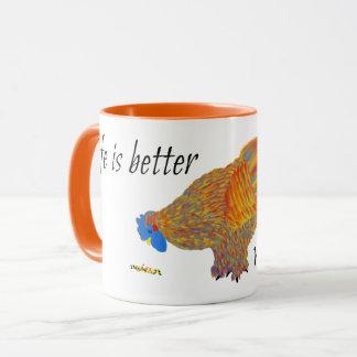 La vida es mejor con los pollos taza