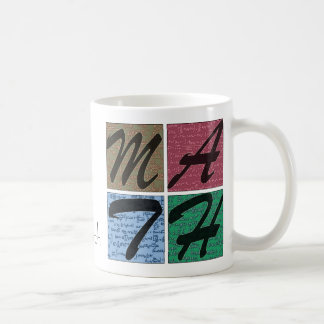 La vida es mejor con matemáticas taza de café