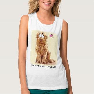 La vida es mejor con un Labradoodle Camiseta Con Tirantes