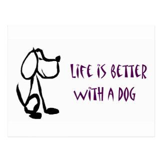 La vida es mejor con un perro postal