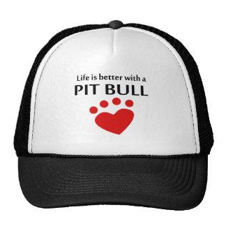 La vida es mejor con un pitbull gorras