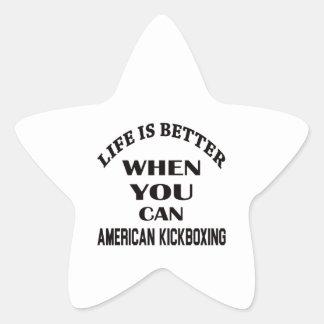 La vida es mejor cuando usted puede el kickboxing pegatina en forma de estrella