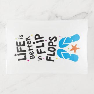 La vida es mejor en cita de los flips-flopes