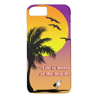 La vida es mejor en el caso de Iphone de la playa Funda iPhone 7
