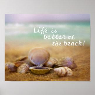 La vida es mejor en el poster del personalizable póster