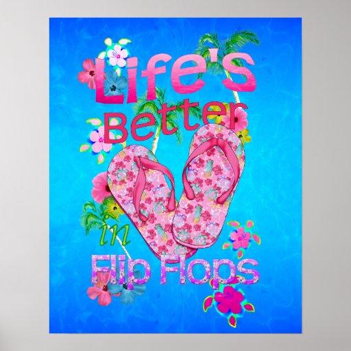 La vida es mejor en flips-flopes poster