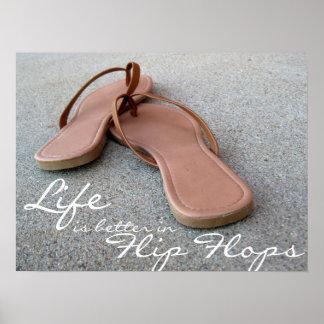 La vida es mejor en flips-flopes impresiones