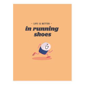 La vida es mejor en zapatillas deportivas postal