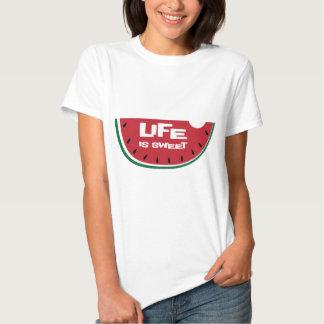 La vida es sandía dulce camiseta