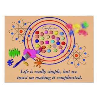 La vida es simple - cita de Confucio Impresiones