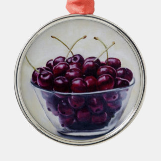 La vida es un cuenco de cerezas adorno de navidad