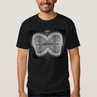 La vida es un roller coaster - hombres negros camiseta