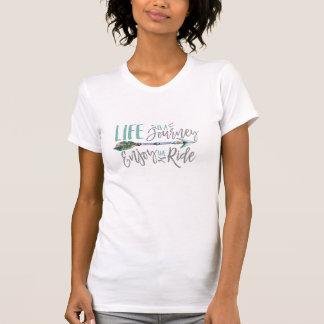 La vida es un viaje goza del Wanderlust de Boho Camiseta