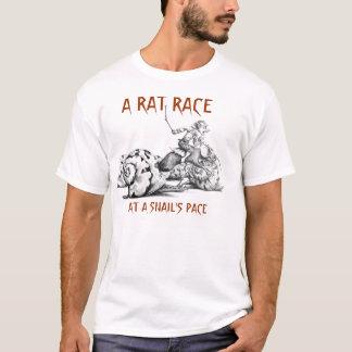 La vida es un vorágine en un paso de tortuga camiseta
