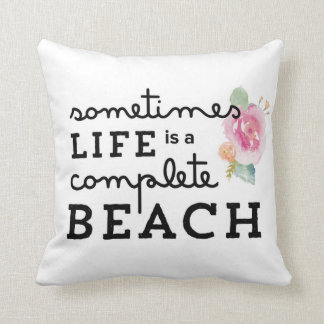La vida es una almohada de tiro de la playa